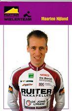 CYCLISME carte cycliste MAARTEN NIJLAND équipe RUITER WIELERTEAM