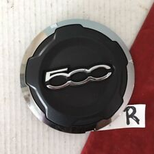 #R 2012-13 Fiat 500 Black Chrome Trim Center Cap Trim OEM 735574469