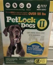 PetLock II for Dogs Over 55 lbs  4 doses Brand new.