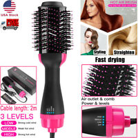 3 in 1 Straightening & Roll Curler Brush Drying Hair Dryer Hot Air Comb Tool