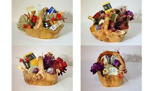 Handmade natural wood root Carved artistic christmas gift, Large fruit basket..