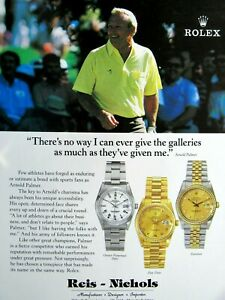 "1996 Rolex Arnold Palmer There's No Way Original Print Ad 8.5 x 11"""