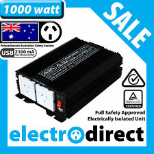 1000W (2000 watt max) Power Inverter 12-240V M Sine Wave Laptop Charger Car Boat