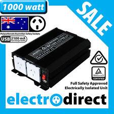 1000W (2000 watt max) Power Inverter 12-240V M Sine Wave Laptop Charger Car Boat