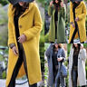 Women Hooded Knit Cardigan Sweater Outwear Long Jacket Trench Coat Autumn Winter
