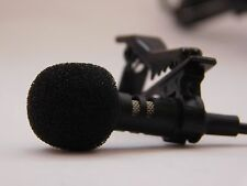 Mini 3.5mm External Microphone Audio Clip-on Lapel For IPHONE PC ANDROID US SELL