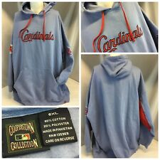 St. Louis Cardinals Majestic Hoodie Sweatshirt 6XL Blue Cotton Poly YGI K9-72