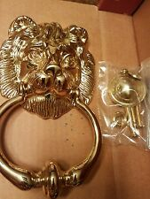 The Broadway Collection Vintage New Nib Brass Lion Door Knocker Large 8""