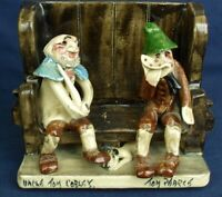 Will Young Runnaford Pottery OLD UNCLE TOM COBLEY & TOM PEARCE Vintage Devon