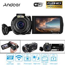 Andoer FHD DVR Video Camera WiFi 24MP 4K+10X Optical Zoom Remote + 128GB TF Card