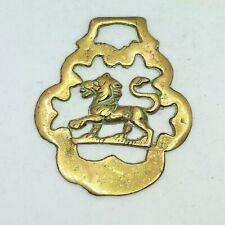 New listing Lion Horse Bridle Harness Medallion Brass Decorative Parade Tack Vintage