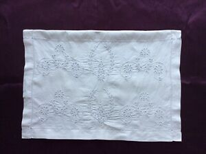 Antique/Vintage White Embroidered Pyjama/Nightdress case