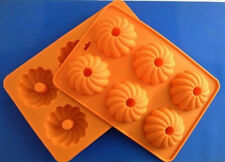 1pcs 6 Holes Small Chrysanthemum Silicone Cake/Pudding/Jelly Bakeware DIY Mould
