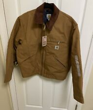 Discontinued Carhartt Blanket Lined Detroit Duck Jacket J001BRN Mens Size Large