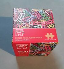 REALLY HARD PUZZLE PAPER CLIPS - 500 PIECE WORLDS SMALLEST MINI JIGSAW PUZZLE