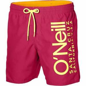 O'Neill California Retro Logo Men's Swim Shorts, Watermelon