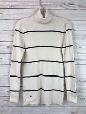 LRL Lauren Ralph Lauren Ribbed Turtleneck Sweater Winter Cream Women's Sz M NWT
