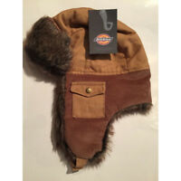 DICKIES BROWN CANVAS TROUT CREEK TRAPPER HAT WITH EAR FLAPS