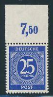 ALLIIERTE 1946, Mi. 926 c P OR ndgz **, Farbe + Oberrand geprüft ARGE! Tadellos!
