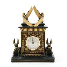 Contemporary Hand Cast Taranis Temple of Isis and Anubis Egyptian Revival Clock