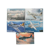 Trumpeter 5PCS 1:144 Aircraft Fighter Model World War II Military Assemble Kit