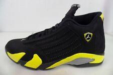 Nike Air Jordan Retro XIV 14 Thunder Black Vibrant Yellow White 487471-070 Sz 12