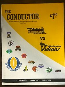 THE CONDUCTOR JACKSONVILLE EXPRESS BIRMINGHAM VULCANS 1975 WORLD FOOTBALL LEAGUE