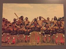 Traditional Maori Action Song Te Roopu Manutaki New Zealand Postcard Vintage