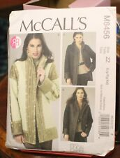 McCall's M6456 Women's Lined Reversible Coats Jackets Plus Size L-Xlg-XxL