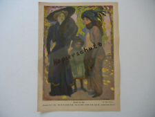 ORIGINAL Blatt aus der Zeitschrift JUGEND 1909 Paul Rieth - Erich Wilke (B387)