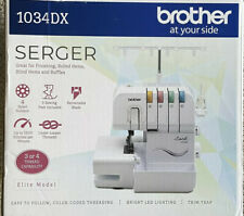 Brother 1034Dx Serger Sewing Machine - Metal Frame - 1,300 Stitches Per Minute