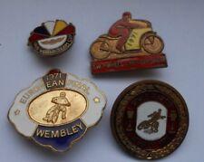 4 badges motorbike wembley world team cup 1970 euro final  71 team cup 68 +