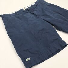 Lacoste Men's Casual Chino Shorts Navy Blue Flat Front • Size 40
