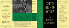 Hemingway GREEN HILLS OF AFRICA facsimile dust jacket for 1st US edition & early