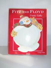 Fitz and Floyd Frosty Folks Snowman Canape Plate 2004 -0118