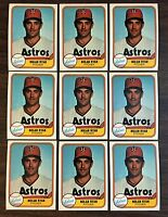 1981 FLEER #57 NOLAN RYAN LOT OF 9 MT Cards F6019608