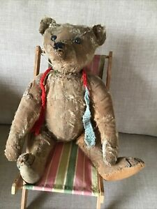 EARLY ANTIQUE STEIFF BEAR IN POOR CONDITION  Circa 1906
