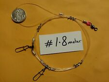 BEST $ ADD OWN HOOKS QUALITY MADE SNAPPER RIG 80LB LINE ULTIMATE MED 2 DROPPERS