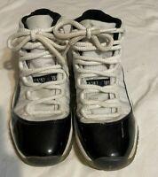 NIKE AIR JORDAN 11 RETRO CONCORD WHITE BLACK 378037-100 YOUTH GS Size 5
