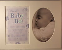 Baby Boy Keepsake Photo Frame Mount to take 6 x 4 inch photo 20.25cm