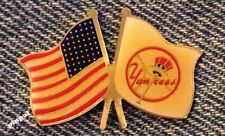 New York Yankees Lapel Pin~MLB~American Flag~Baseball~1991 Vintage~CP&D~Logo