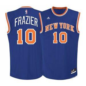 Walt Frazier NBA Adidas Men's New York Knicks Road Blue Replica Jersey