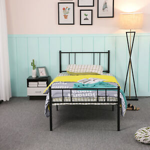 Single Bed Solid 3ft Metal Beds Frame with Large Storage Space For Kids Adults