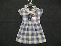 Sweet & Soft Toddler Girls Blue White Buffalo Check Dress Size 2T 4T Summer Knit