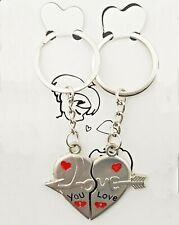 2 Teile Partner Schlüsselanhänger Herz  Herzanhänger Partner Anhänger