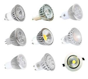GU10/MR16 4, 5, 7w High Power, LED Energy Saving Light bulbs, COB, spot, Savings