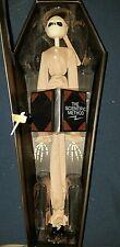 Nightmare Before Christmas 16in tall Pajama Jack Skellington Doll in Coffin