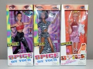 Vintage Lot of 3 - Spice Girls On Tour Dolls New In Box - Sporty, Baby, Scary