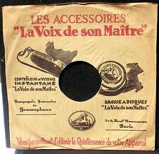 Pochette 78 trs / 78 RPM Cover/sleeve Les accessoires La Voix de son maître EX