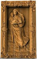 The Sistine Madonna WoodEN gift  WOOD CARVED CHRISTIAN ICON RELIGIOUS ART WORK